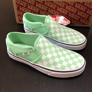 Vans Asher Checkerboard Green Ash